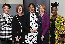 March 8, 2019 - London, London, United Kingdom - Image licensed to i-Images Picture Agency. 08/03/2019. London, United Kingdom. (L-R) British model Adwoa Aboah, former Australian Prime Minister Julia Gillard, Britain's Meghan, Duchess of Sussex, British journalist Anne  McElvoy and Camfed Regional Director Zimbabwe's Angeline Murimirwa  take part in a panel discussion in London, convened by the Queen's Commonwealth Trust to mark International Women's Day  (Credit Image: © Pool/i-Images via ZUMA Press)