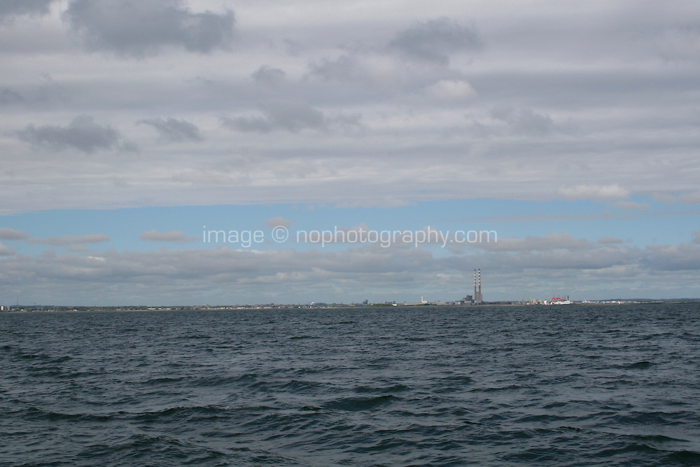 Dublin Bay with a view of the Poolbeg Generating Station