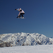 Lauren Staveley, Australia, in action during the Snowboard Slopestyle Ladies competition at Snow Park, New Zealand during the Winter Games. Wanaka, New Zealand, 21st August 2011. Photo Tim Clayton
