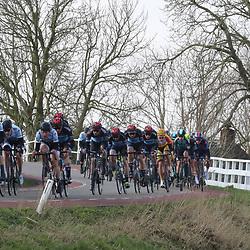 07-03-2020: Wielrennen: Ronde van Groningen: Usquert <br />Sfeerbeeld kopgroep