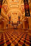 Inside the Venetian at night, Las Vegas, Nevada, USA