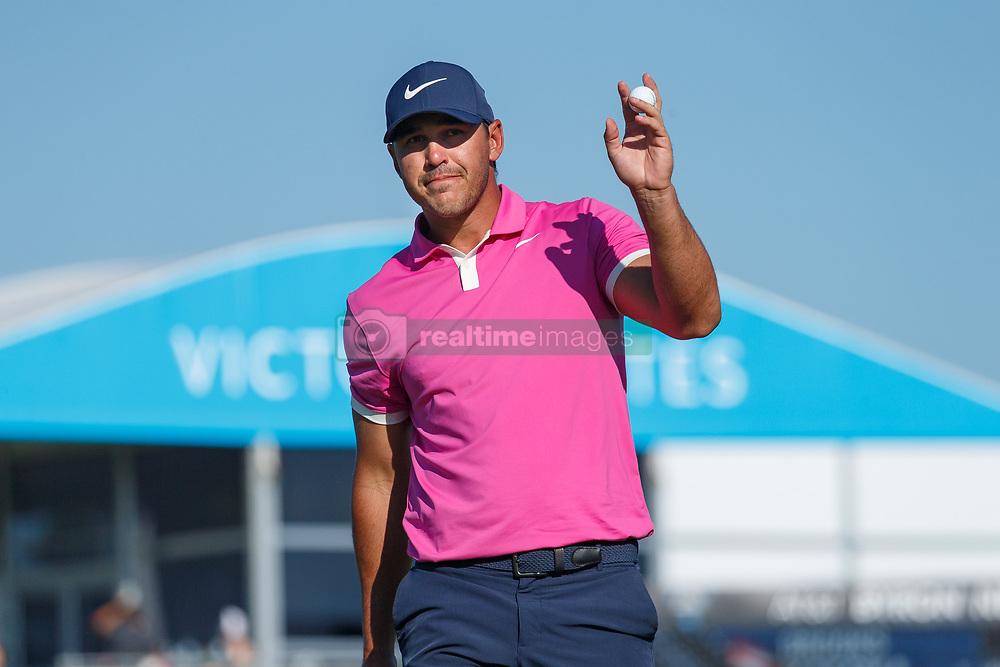 May 12, 2019 - Dallas, TX, U.S. - DALLAS, TX - MAY 12: Brooks Koepka waves at the gallery after his final round af the AT&T Byron Nelson on May 12, 2019 at Trinity Forest Golf Club in Dallas, TX. (Photo by Andrew Dieb/Icon Sportswire) (Credit Image: © Andrew Dieb/Icon SMI via ZUMA Press)