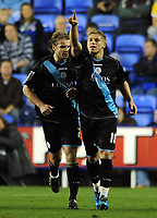 Fotball<br /> Foto: Colorsport/Digitalsport<br /> NORWAY ONLY<br /> <br /> Martyn Waghorn of Leicester City celebrates his goal<br /> Reading vs Leicester City<br /> Coca Cola Championship, Madejski Stadium <br /> 26/10/2009