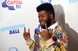 Khalid on the red carpet of the the media run during Capital's Summertime Ball. The world's biggest stars perform live for 80,000 Capital listeners at Wembley Stadium at the UK's biggest summer party.