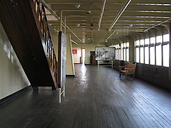 Starboard Interior Deck on The Queen Mary permanently berthed at Long Beach CA.