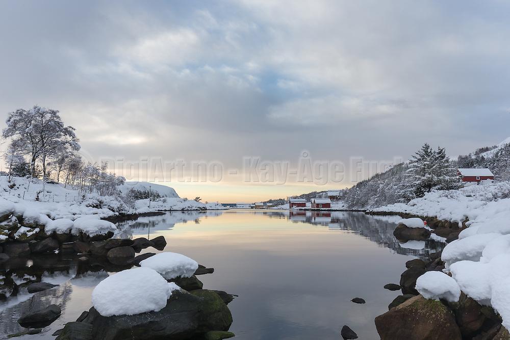 Winterlandscape in Norway, nearby Fosnavåg | Vinterlandskap i Frøystadvåg.