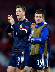 Scotland's Callum McGregor applauds the fans after the UEFA Euro 2020 Group D match at Hampden Park, Glasgow. Picture date: Tuesday June 22, 2021.
