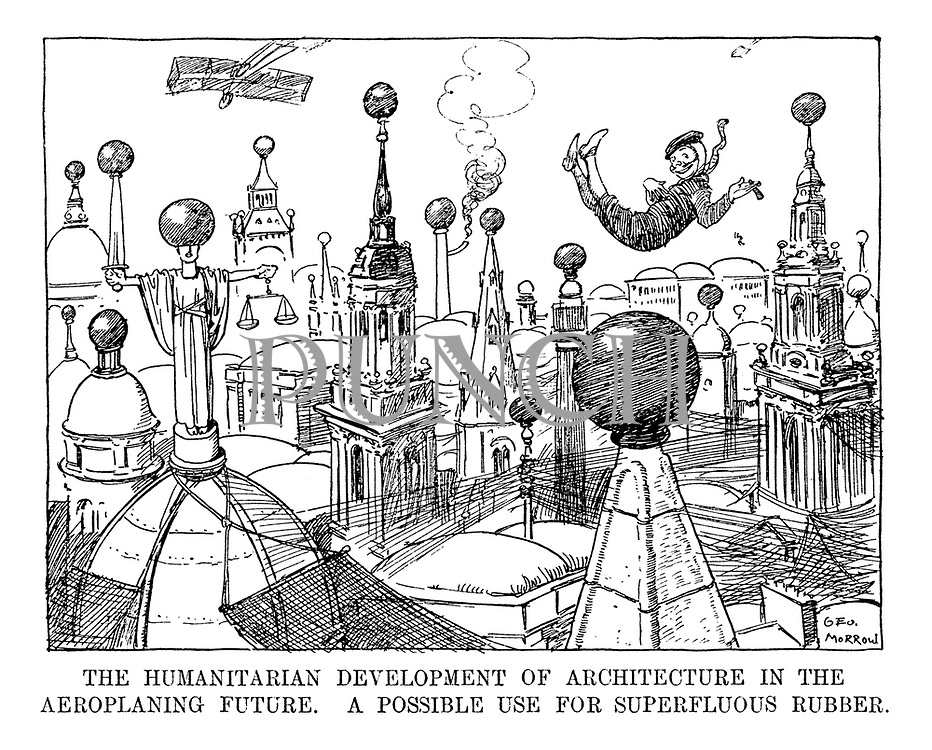 The Humanitarian Development of Architecture in the Aeroplane Future. A possible use for superfluous rubber.
