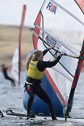 Day 2 of the RYA Youth National Championships 2013 held at Largs Sailing Club, Scotland from the 31st March - 5th April. ..956, Saskia SILLS, Roadford, RSX..For Further Information Contact..Matt Carter.Racing Communications Officer.Royal Yachting Association.M: 07769 505203.E: matt.carter@rya.org.uk ..Image Credit Marc Turner / RYA..