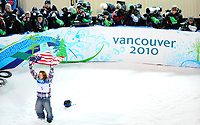 VANCOUVER OLYMPIC GAMES 2010 - VANCOUVER (CAN) - 17/02/2010 - PHOTO : VINCENT CURUTCHET / DPPI<br /> SNOWBOARD / HALF-PIPE MEN - SHAUN WHITE (USA) / WINNER