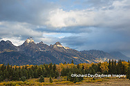 67545-09618 Fall color and Grand Teton Mountain Range from Blacktail Falls Overlook, Grand Teton National Park, WY