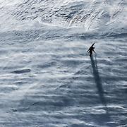 Ville Niiranen going against the wind on Mount Etna, Sicily