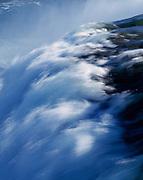 Brink of the American Falls where the Niagara River drops 180 feet, Niagara Reservation State Park, Niagara Falls, New York.
