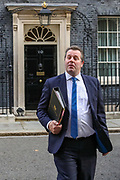 Chief Whip Mark Spencer leaves in 10 Downing Street, London, ahead of a Cabinet meeting at the Foreign and Commonwealth Office on Wednesday, Sept 30, 2020. (VXP Photo/ Vudi Xhymshiti)