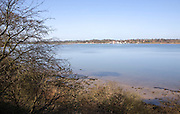 Low tide with exposed sand and mudflats, River Deben, Sutton, Suffolk, England