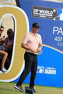 Rory McIlroy (NIR) on the 10th tee during the 3rd round of the DP World Tour Championship, Jumeirah Golf Estates, Dubai, United Arab Emirates. 17/11/2018<br /> Picture: Golffile | Fran Caffrey<br /> <br /> <br /> All photo usage must carry mandatory copyright credit (© Golffile | Fran Caffrey)