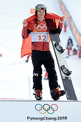 24.02.2018, Phoenix Snow Park, Bokwang, KOR, PyeongChang 2018, Snowboard, Herren, Siegerpräsentation, Parallel Riesenslalom, im Bild Nevin Galmarini (SUI, 1. Platz) // gold medalist and Olympic champion Nevin Galmarini of Switzerland7 during the winner presentation for the men's Snowboard Parallel Riesenslalom of the Pyeongchang 2018 Winter Olympic Games at the Phoenix Snow Park in Bokwang, South Korea on 2018/02/24. EXPA Pictures © 2018, PhotoCredit: EXPA/ Johann Groder