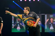 Jose de Sousa during the PDC Premier League Darts Night 11 at Marshall Arena, Milton Keynes, United Kingdom on 6 May 2021.