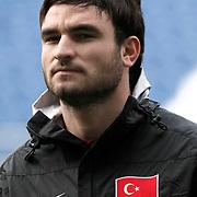 Turkey U21's Musa Nizam during their friendly soccer match Turkey U21 betwen Denmark U21 at Recep Tayyip Erdogan stadium in Istanbul February 29, 2012. Photo by TURKPIX