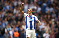 Brighton & Hove Albion's Anthony Knockaert celebrates after the final whistle