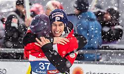 01.03.2019, Seefeld, AUT, FIS Weltmeisterschaften Ski Nordisch, Seefeld 2019, Skisprung, Herren, im Bild Daniel Huber (AUT), Bronzemedaillengewinner Stefan Kraft (AUT) // Daniel Huber of Austria, Bronze Medalist Stefan Kraft of Austria during the men's Skijumping of FIS Nordic Ski World Championships 2019. Seefeld, Austria on 2019/03/01. EXPA Pictures © 2019, PhotoCredit: EXPA/ JFK
