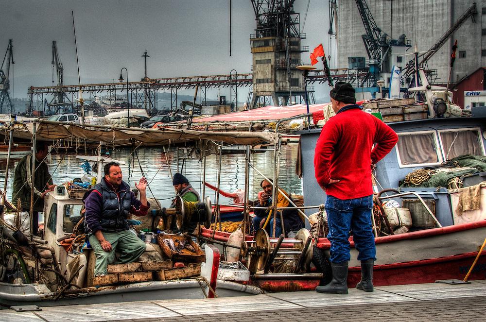 Fishermen in Volos harbour - 3