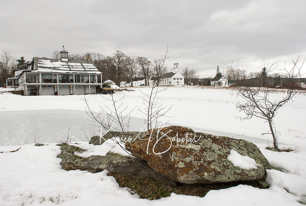 Krebs Farm in Sanbornton covered with a blanket of snow.  (Karen Bobotas/for the Laconia Daily Sun)