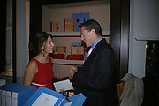 Kate Weinberg and Charles Glass. The Moneypenny diaries book launch. Smythson, 40 New Bond St. London.  4 October 2005. . ONE TIME USE ONLY - DO NOT ARCHIVE © Copyright Photograph by Dafydd Jones 66 Stockwell Park Rd. London SW9 0DA Tel 020 7733 0108 www.dafjones.com