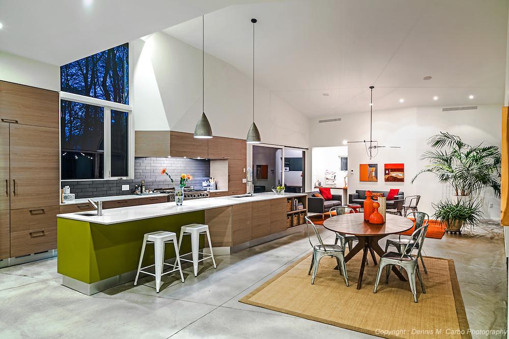 Contemporary Kitchen in Darien by SU11 Architects