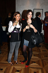 Left to right, VICTORIA-ANNE BULL and HOLLY WHITE at a party to celebrate the publication of 'Dancing into Waterloo' by Nick Foulkes held at The Westbury Hotel, Conduit Street, London on 14th December 2006.<br /><br />NON EXCLUSIVE - WORLD RIGHTS