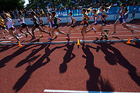 Girls run the 1600 meters race at the Sacramento Meet of Champions at American River College, Saturday Apr 29, 2017. <br /> photo by Brian Baer