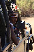 Kenya, Samburu National Park tour guide in traditional dress