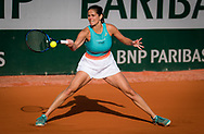 Julia Goerges of Gemany in action against Laura Siegemund of Germany during the second round at the Roland Garros 2020, Grand Slam tennis tournament, on October 1, 2020 at Roland Garros stadium in Paris, France - Photo Rob Prange / Spain ProSportsImages / DPPI / ProSportsImages / DPPI