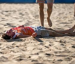 25-08-2019 NED: DELA NK Beach Volleyball, Scheveningen<br /> Last day NK Beachvolleyball / Dirk Boehlé #1
