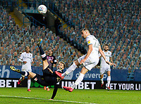 Leeds United's Jack Harrison goes close with a chance<br /> <br /> Photographer Alex Dodd/CameraSport<br /> <br /> The EFL Sky Bet Championship - Leeds United v Luton Town - Tuesday 30th June 2020 - Elland Road - Leeds<br /> <br /> World Copyright © 2020 CameraSport. All rights reserved. 43 Linden Ave. Countesthorpe. Leicester. England. LE8 5PG - Tel: +44 (0) 116 277 4147 - admin@camerasport.com - www.camerasport.com