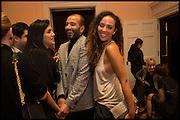 ABDULLAH AL-TURKI; PRINCESS ALIA AL-SENUSSI;, James Franco talk and supper at Mansfield St. hosted by Maja Hoffmann. London. 23 November 2014