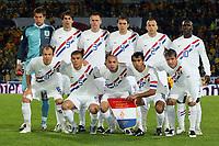 Fotball<br /> Nederland<br /> Foto: ProShots/Digitalsport<br /> NORWAY ONLY<br /> <br /> EM-kvalifisering<br /> Romania v Nederland 1-0<br /> <br /> constanta 13-10-2007 interland roemenie - nederland 1-0 efltalfoto teamfoto achter: stekelenburg , van nistelrooij , ooijer , mathijsen , heitinga en seedorf . voor : robben , bouma , de zeeuw , van bronckhorst en van der vaart