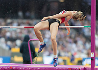 Athletics - 2017 IAAF London World Athletics Championships - Day Two (AM Session)<br /> <br /> Event: High Jump Women - Heptathlon<br /> <br /> Geraldine Rucksthul (SUI)  clears the high jump bar <br /> <br /> COLORSPORT/DANIEL BEARHAM