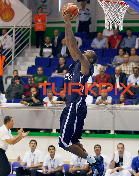 Anadolu Efes's Terence KINSEY during their Turkey Cup Qualifying basketball first match Anadolu Efes between Turk Telekom at Aliaga Arena in Izmir, Turkey, Sunday, October 9, 2011. Photo by TURKPIX