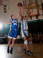 Girls basketball Concord Christian versus Hinsdale at YMCA gym January 9, 2012.  (Karen Bobotas/ for the Concord Monitor)