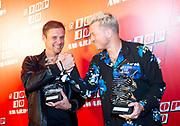 Qmusic Top 40 Awards 2020 Bij Qmusic in Amsterdam.<br /> <br /> Op de foto: Grootste Artiest van de '10s: Armin van Buuren  en Gers Pardoel