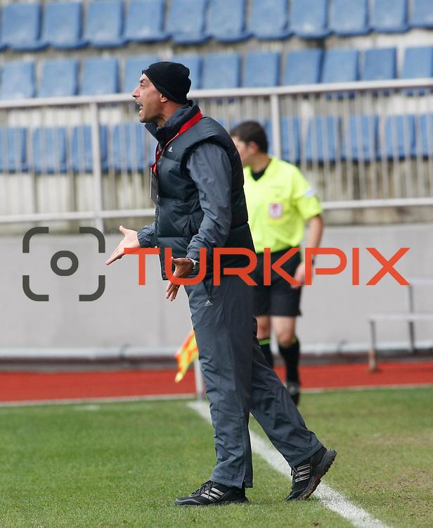 Gaziantepspor's coach Tolunay KAFKAS during their Turkish superleague soccer match Kasimpasaspor between Gaziantepspor at the Recep Tayyip Erdogan stadium in Istanbul Turkey on Sunday 23 January 2011. Photo by TURKPIX