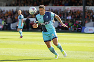 Adam El-Abd of Wycombe Wanderers in action. EFL Skybet football league two match, Newport county v Wycombe Wanderers at Rodney Parade in Newport, South Wales on Saturday 9th September 2017.<br /> pic by Andrew Orchard, Andrew Orchard sports photography.