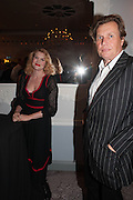 EMERALD FENNELL; THEO FENNELL, The launch of 'Solo', the new James Bond novel written by William Boyd,  The Dorchester , PARK LANE, LONDON. 25 SEPTEMBER 2013.