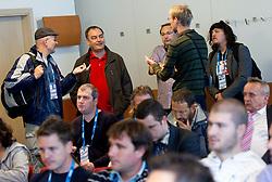 Eduardo Brozovic, Rok Mauer, Franci Pavser and Jasa Lorencic at presentation of Eurobasket Slovenia 2013, on September 8, 2011, in Hotel Novotel,  Vilnius, Lithuania.   (Photo by Vid Ponikvar / Sportida)
