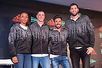 Ana Peleteiro, Fernando Torres, Chema Martinez and Felipe Reyes attends to presentation of new Athletics Z.N.E. Pulse by Adidas in Madrid, Spain September 28, 2017. (ALTERPHOTOS/Borja B.Hojas)