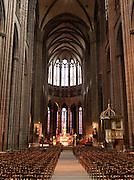 Inside the Cathédrale Notre-Dame-de-l'Assomption de Clermont-Ferrand, Clermont-Ferrand, France
