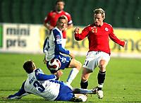 Fotball , 17. oktober 2007 , EM-kvalifisering , Bosnia Herzegovina - Norge 0-2 , <br /> Bjørn Helge Riise , Norge og Samir Merzic , Bosnia