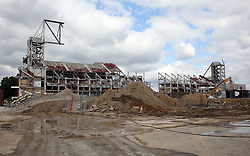 7 June 2017 - Boleyn Ground Demolition<br /> A general view (gv) of the demolition of the West Stand at Upton Park<br /> Photo: Charlotte Wilson / Offside