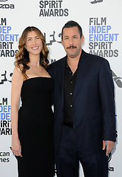 Adam Sandler and Jackie Sandler at the 35th Annual Film Independent Spirit Awards held at the Santa Monica Beach in Santa Monica, USA on February 8, 2020.